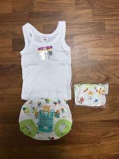 0-3 mths Singlet Baby's Set