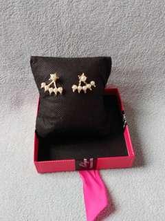 Spikey Pearl Jacket Earrings