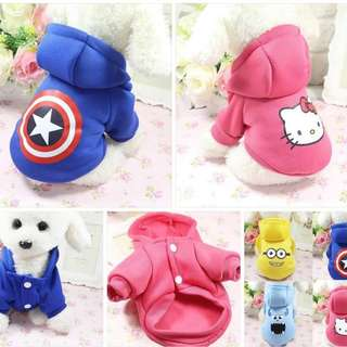 Pet clothes with hat