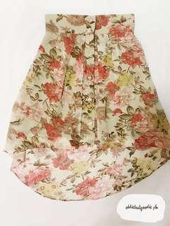 Jelly Bean Hi-Low Floral Skirt