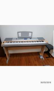 Portable Grande Piano cum keyboard DGX620