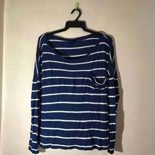 ECKO RED BLUE STRIPED LONG SLEEVES