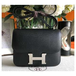 Authentic Hermes Constance 24 Black Phw