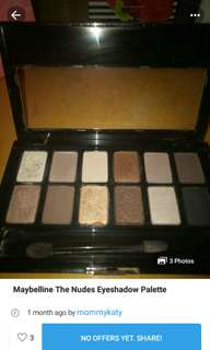 Maybeline the nudes eyeshadow