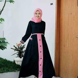 MF - 0418 - Dress Gamis Busana Muslim Wanita Tia Maxi