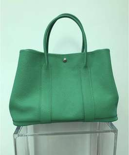 Hermes Garden Party 36 bamboo green limited addition 內𥚃馬頭圖案