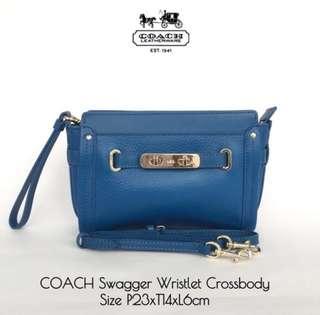 Coach Swagger Wristlet Crossbody