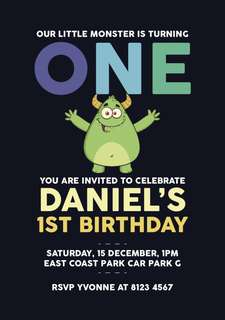 🚚 Customised Birthday Invitation Card