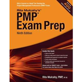 PMP Exam Prep 9th Ninth Edition by Rita Mulcahy - RMC Publications (2018)