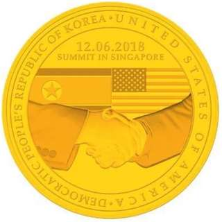 1st Issue USA - North Korea Summit Coin