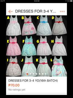 For 3-4 yo dresses