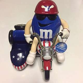 M&M's Candies Dispenser - USA Motorcycle Freedom Rider Collectable