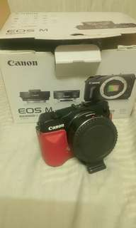 Canon eos m with adapter ef-s