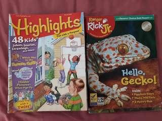 Highlights & Rick Jr. 15 books. $0.5 each