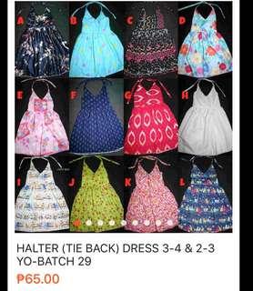 Halter dresses for 3-4