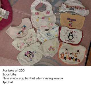Baby bibs for take all