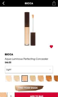 Becca Aqua Luminous Concealer (Light)