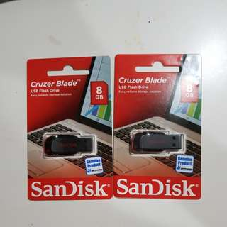 USB Flash Disk 8Gb merk SunDisk 2buah
