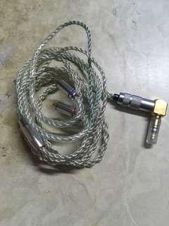 耳機升級線 7N單晶銅鍍銀 mmcx
