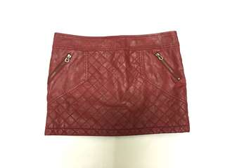 Foreign Exchange Red Mini Skirt