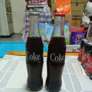 Coca Cola 可口可樂 - China 中國蒙古 250ml 2款不同蓋樽(銀蓋及紅蓋)