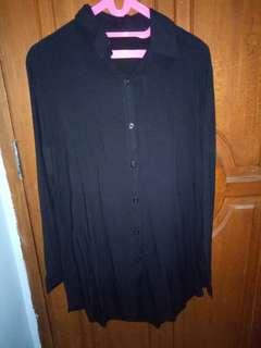 Loose Mini Dress in Black