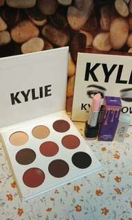 Kylie eyeshadow and Lipstick