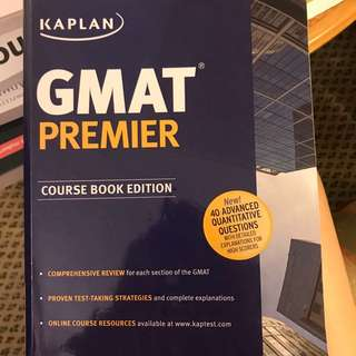 GMAT Premier Kaplan Course Book Edition And GMAT Pocket Reference And MBA Admission Guide