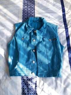 Kids Blue Denim Vest