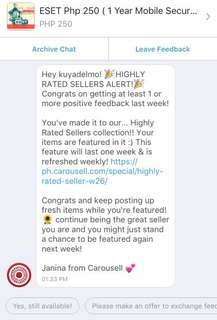 Thank you Ms. Janina Marquez / Carousell PH