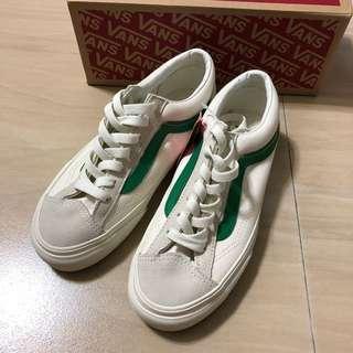 🚚 全新 Vans style36 白底綠線