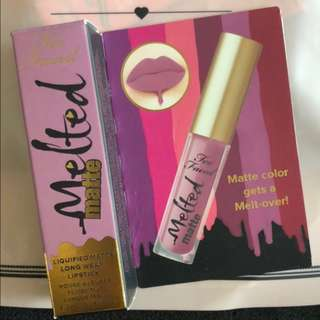 Too Faced Melted Matte Liquified Matte Long Wear Lipstick (Queen B) -BNIB & FREE NORMAL MAIL-