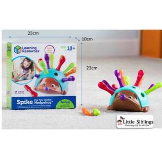 Learning Resources - Spike the Fine Motor Hedgehog - Counting and Fine Motor Skills