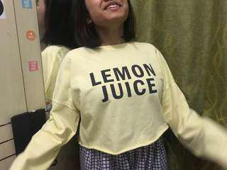 Bershka Sweater Lemon