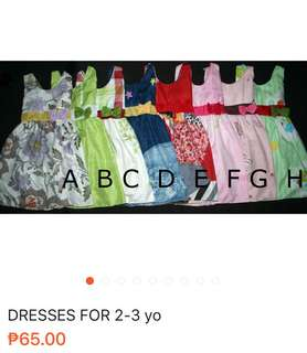 Dresses for 2-3 yo
