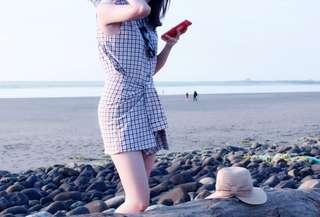 🚚 格子綁帶襯衫洋裝