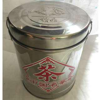 Stainless steel bucket that can store famous Chinese tea