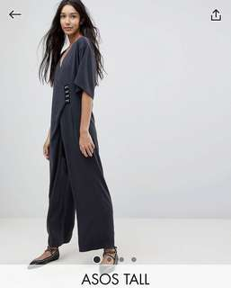 NWT ASOS Minimal Jumpsuit with Hook & Eye UK 6