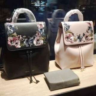 Charles & Keith Embroidery Backpack