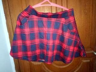 Navy-Red Skirt