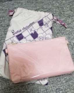 sanrio 粉紅斜孭袋
