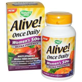 Nature's Way, Alive! Once Daily Women's 50+ Multi-Vitamin60 Tablets