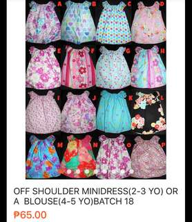 Off shoulder for 2-3 yo