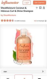 Shea Moisture Coconut and Hibiscus Shampoo
