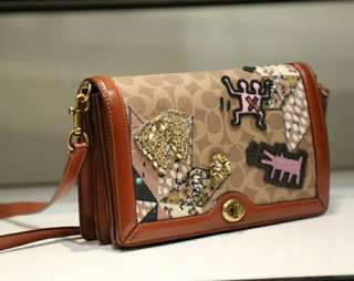 loading...  coach x keith haring riley in signature patchwork. Style no. 31065