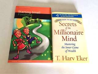 Secrets of the Millionaire Mind by T Harv Eker & Starting Small Finishing Rich by Ernest Low