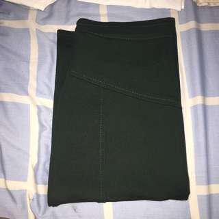 Pencil Skirt Emerald Green