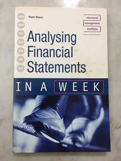 Analysing Financial Statements in a Week (Paperback) by Roger Mason