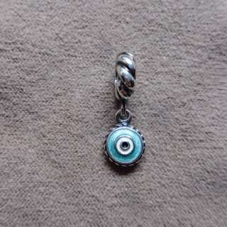 🚚 PANDORA 潘朵拉 Blue Eye Pendant Charm #790529EB 氧化銀 串飾(絕版品)