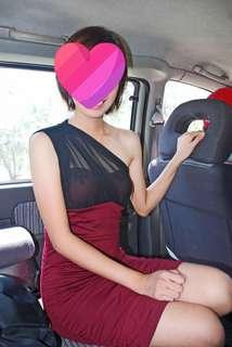 Red wine dress
